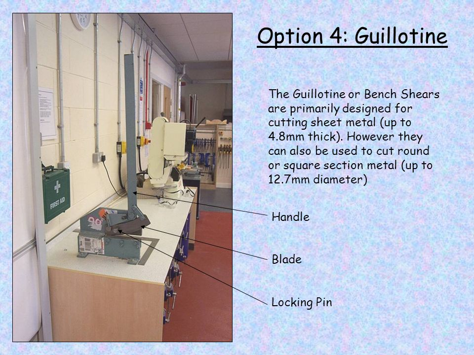 Option 4: Guillotine