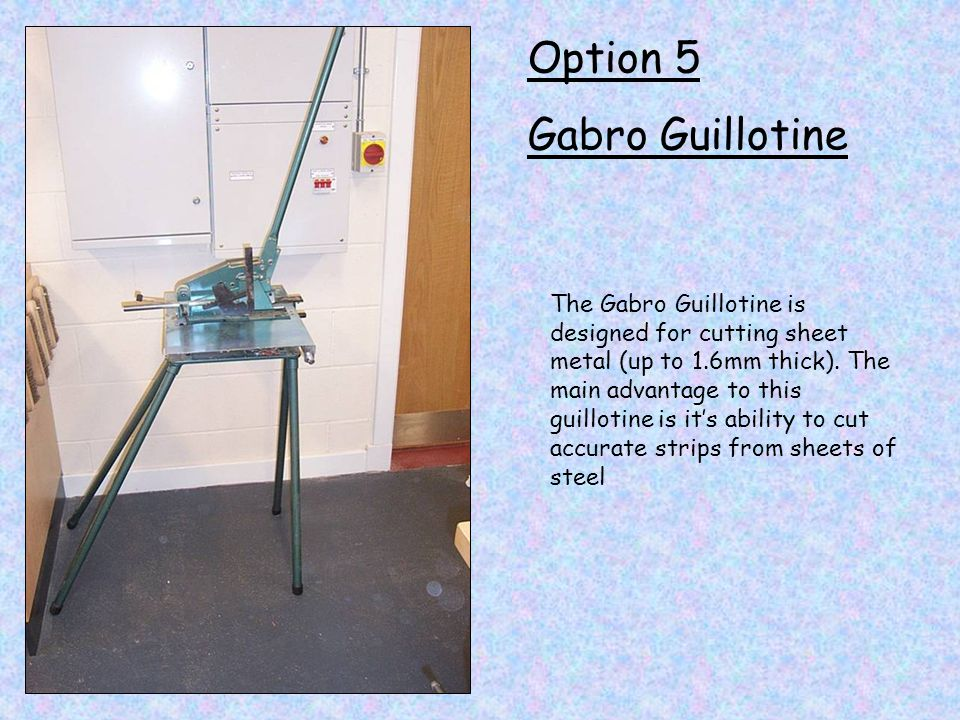 Option 5 Gabro Guillotine
