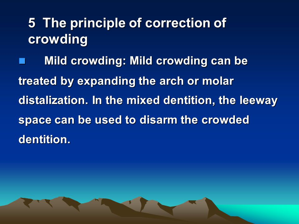5 The principle of correction of crowding