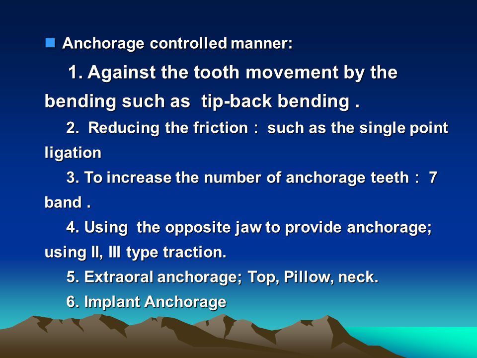 Anchorage controlled manner: 1