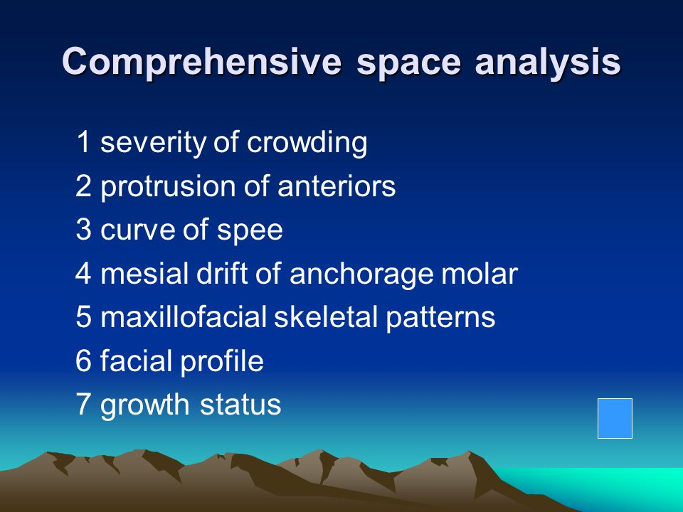 Comprehensive space analysis