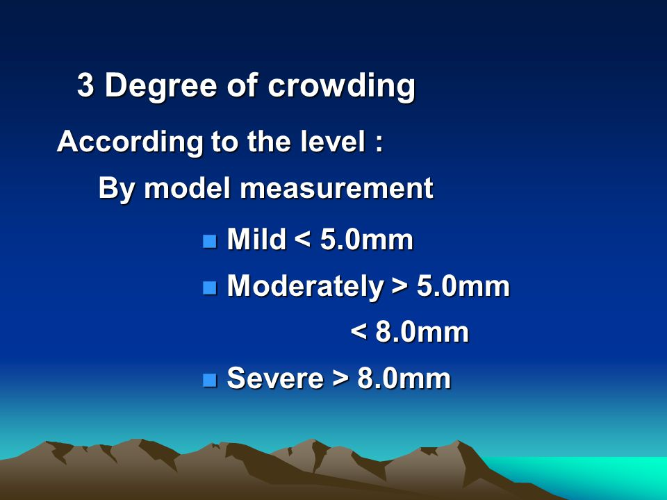 According to the level : By model measurement