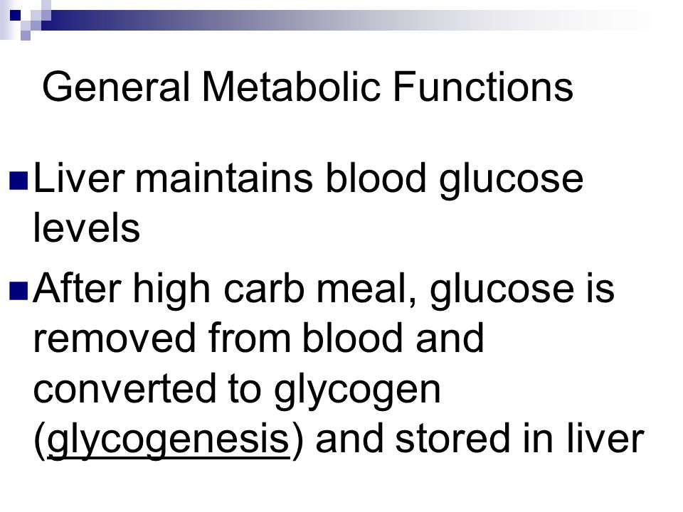 General Metabolic Functions