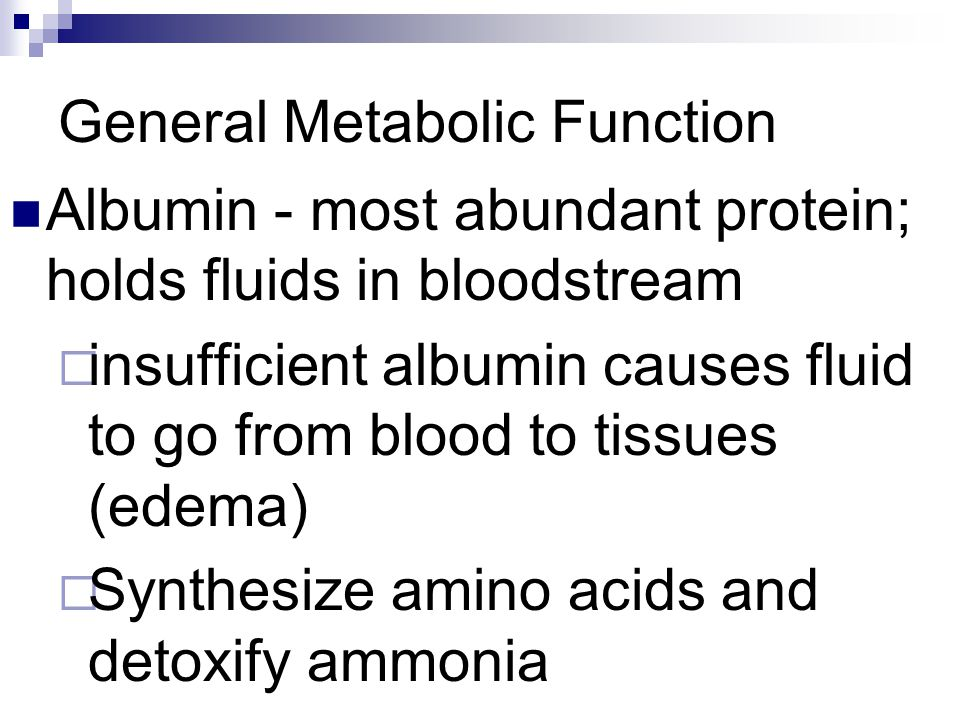 General Metabolic Function