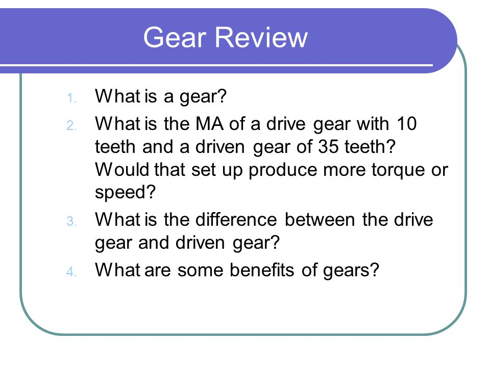 Gear Review What is a gear