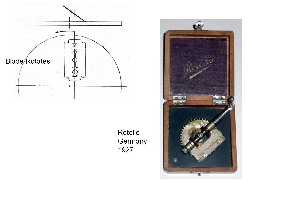 Blade Rotates Rotello Germany 1927