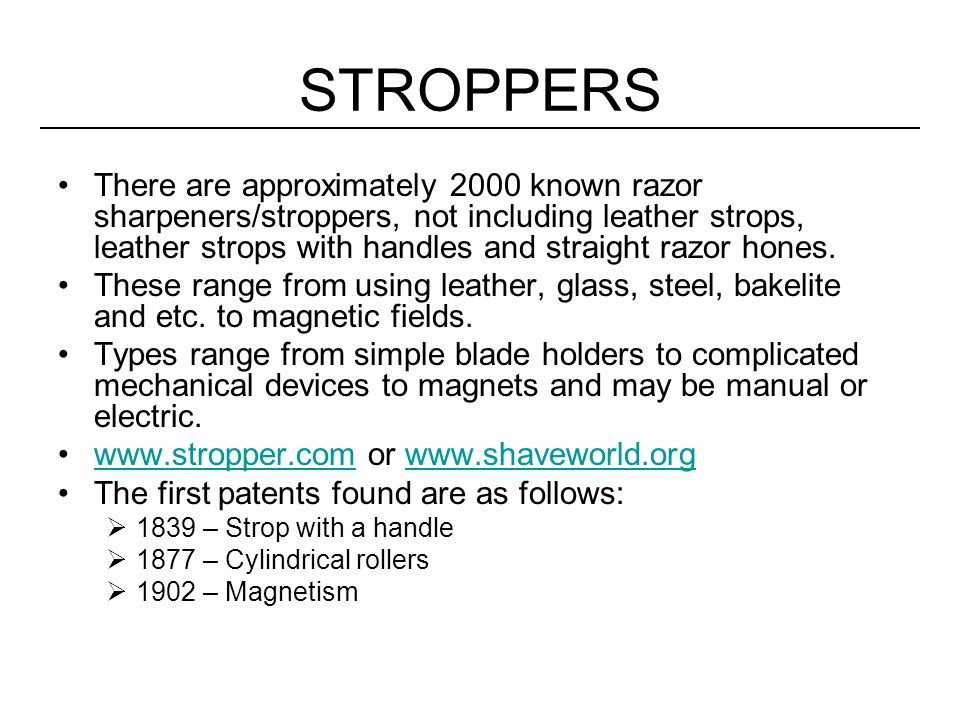 STROPPERS