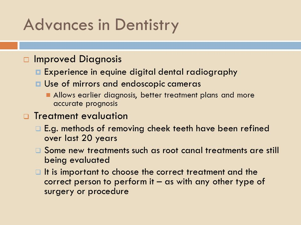 Advances in Dentistry Improved Diagnosis Treatment evaluation
