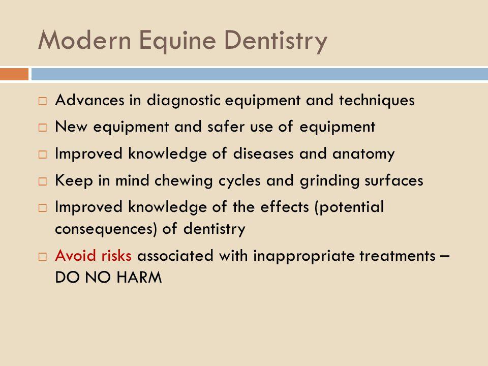 Modern Equine Dentistry