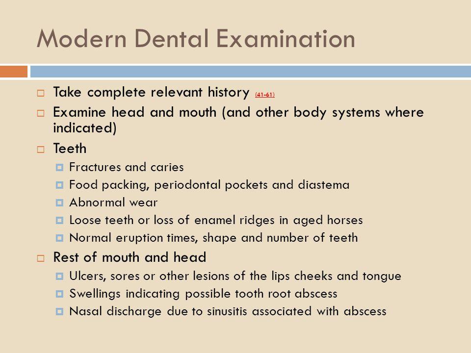 Modern Dental Examination