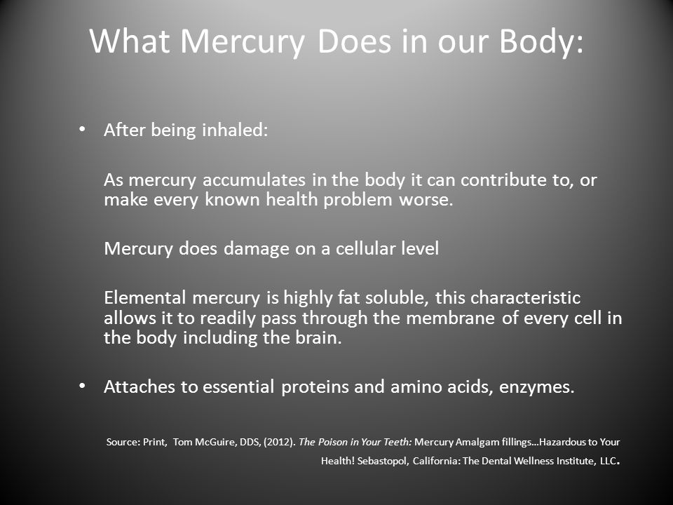 What Mercury Does in our Body: