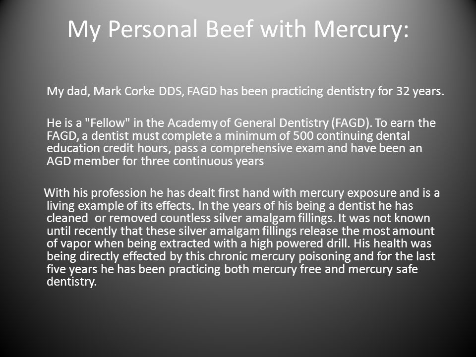 My Personal Beef with Mercury: