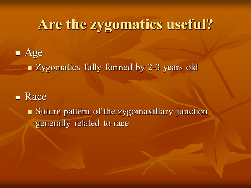 Are the zygomatics useful