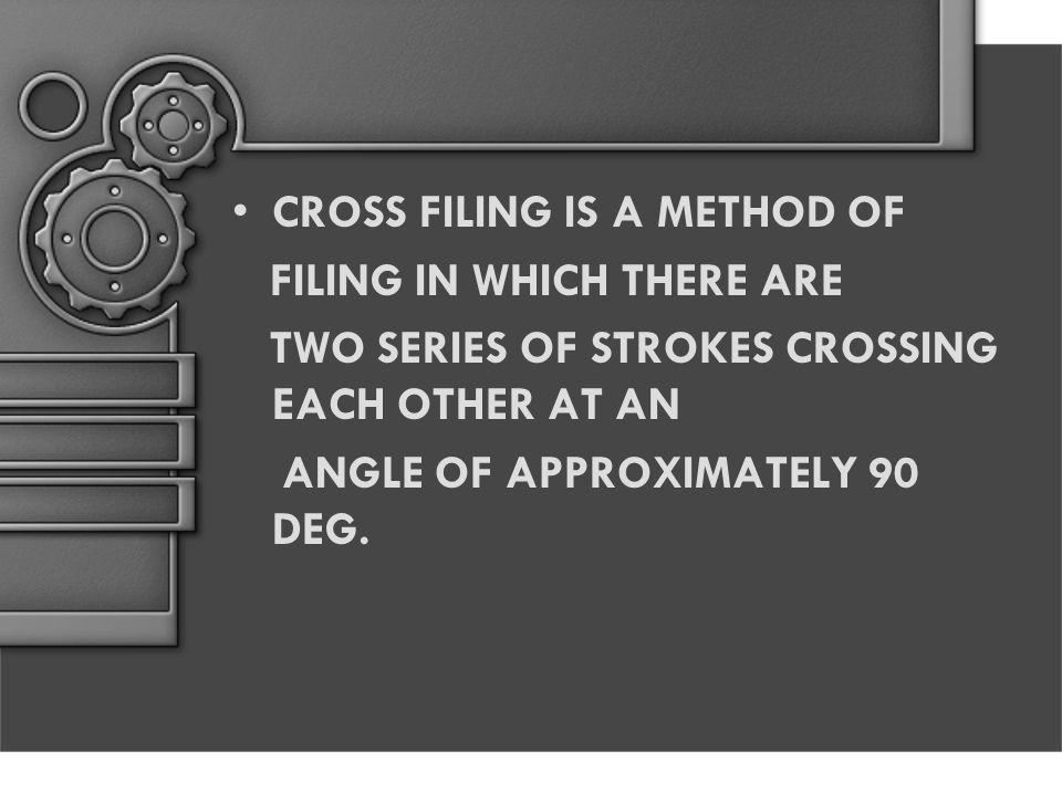CROSS FILING IS A METHOD OF