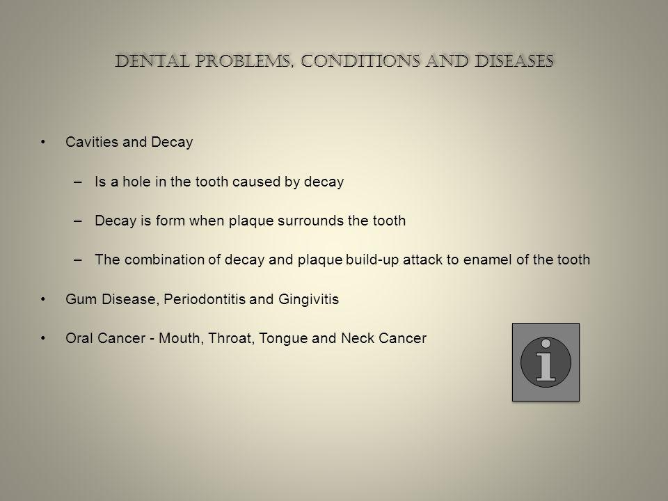 Dental problems, conditions and diseases