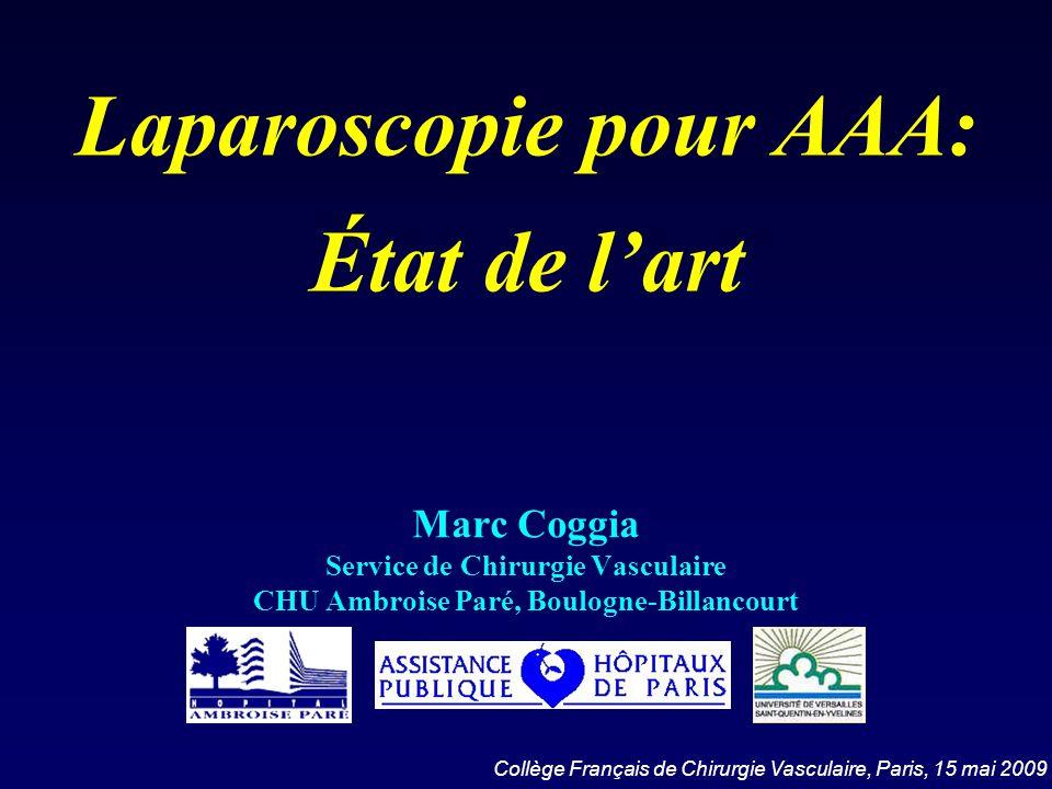 Laparoscopie pour AAA: État de l'art