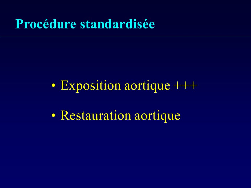 Procédure standardisée