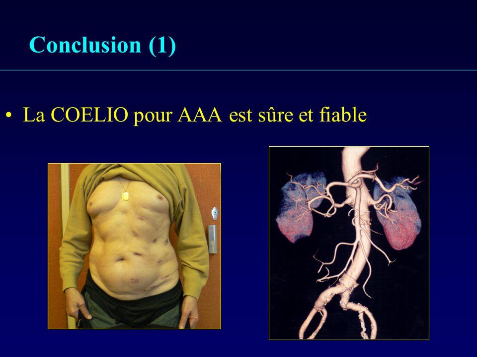 Conclusion (1) La COELIO pour AAA est sûre et fiable
