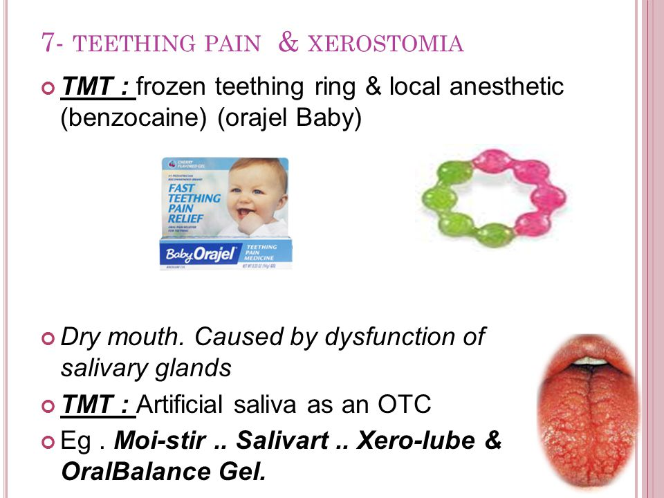 7- teething pain & xerostomia
