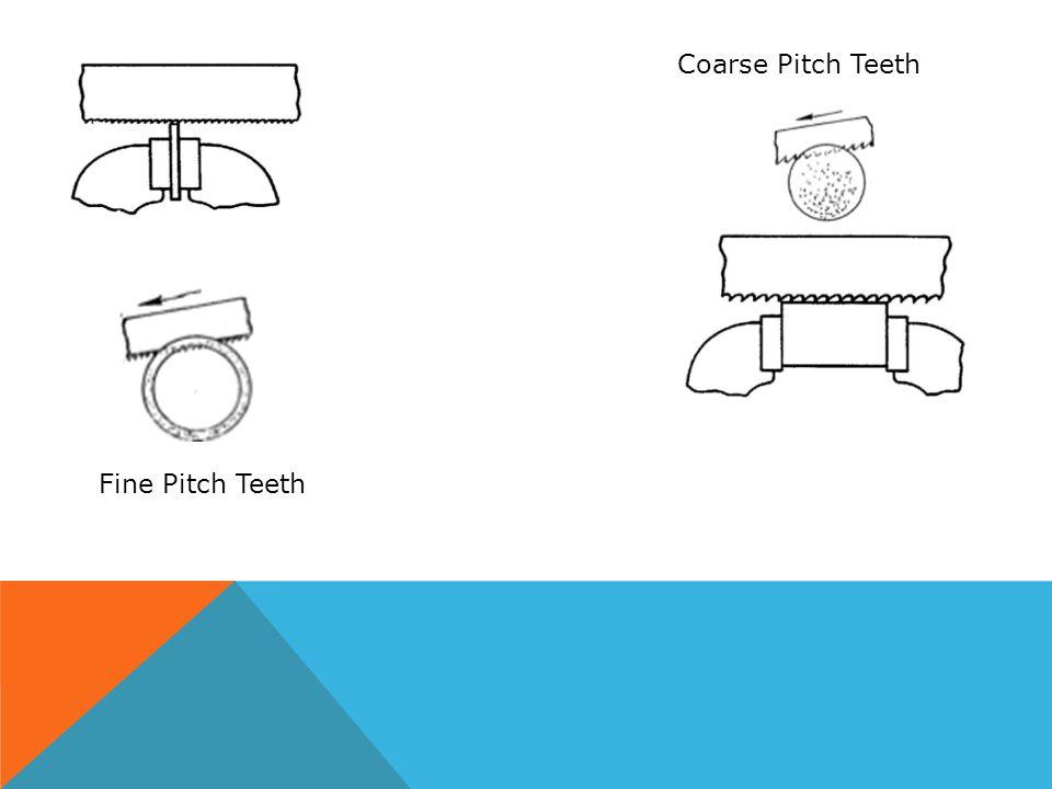 Coarse Pitch Teeth Fine Pitch Teeth