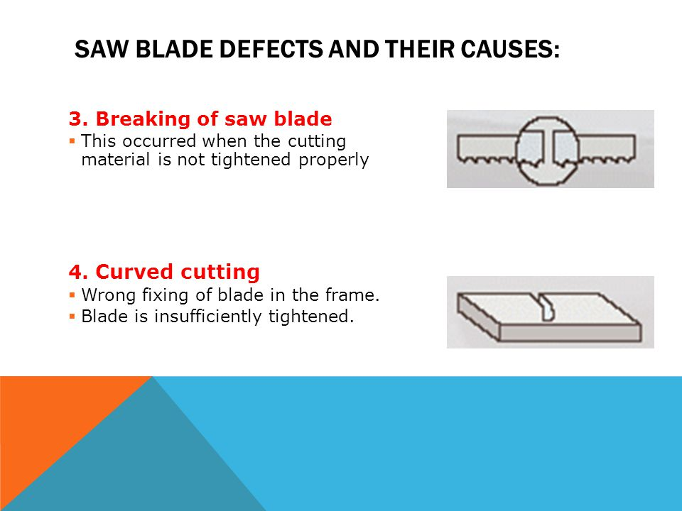 Saw blade defects and their causes: