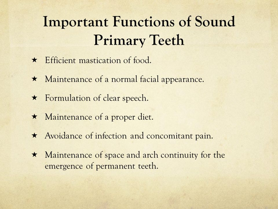 Important Functions of Sound Primary Teeth