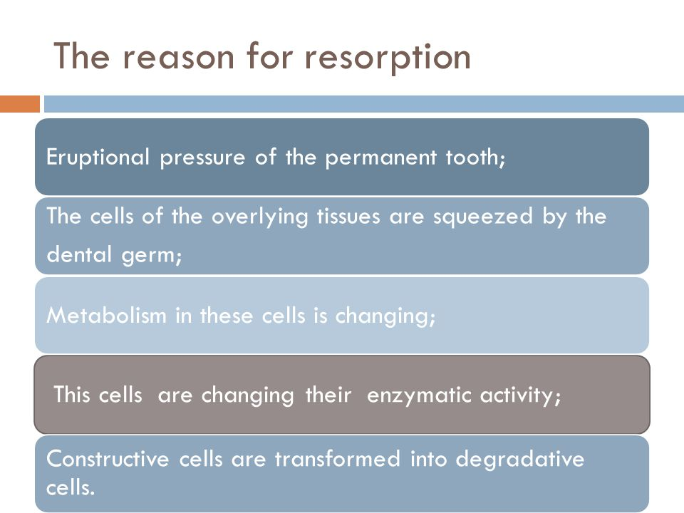 The reason for resorption