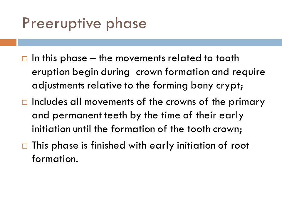 Preeruptive phase