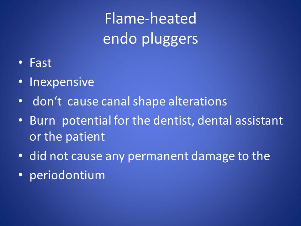 Flame-heated endo pluggers
