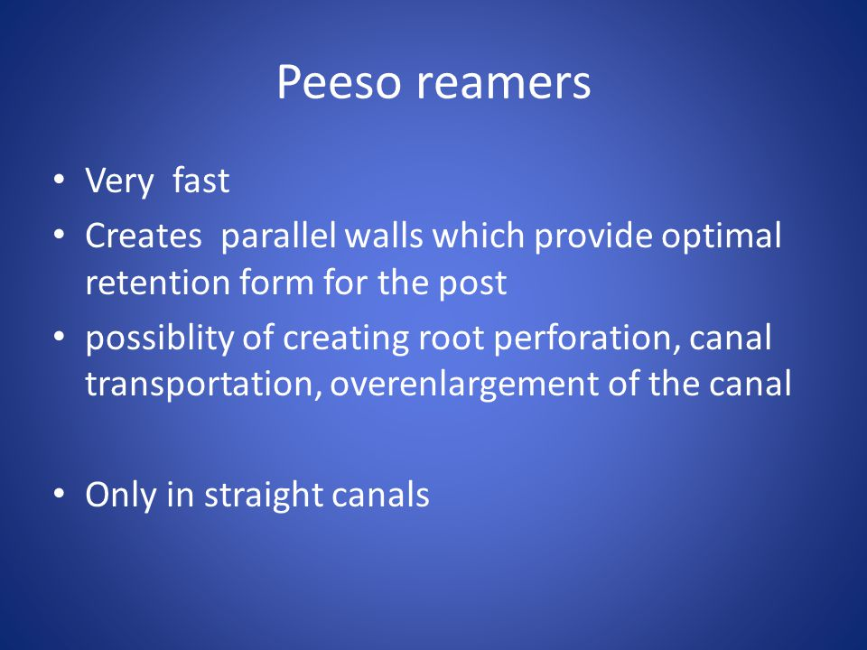 Peeso reamers Very fast