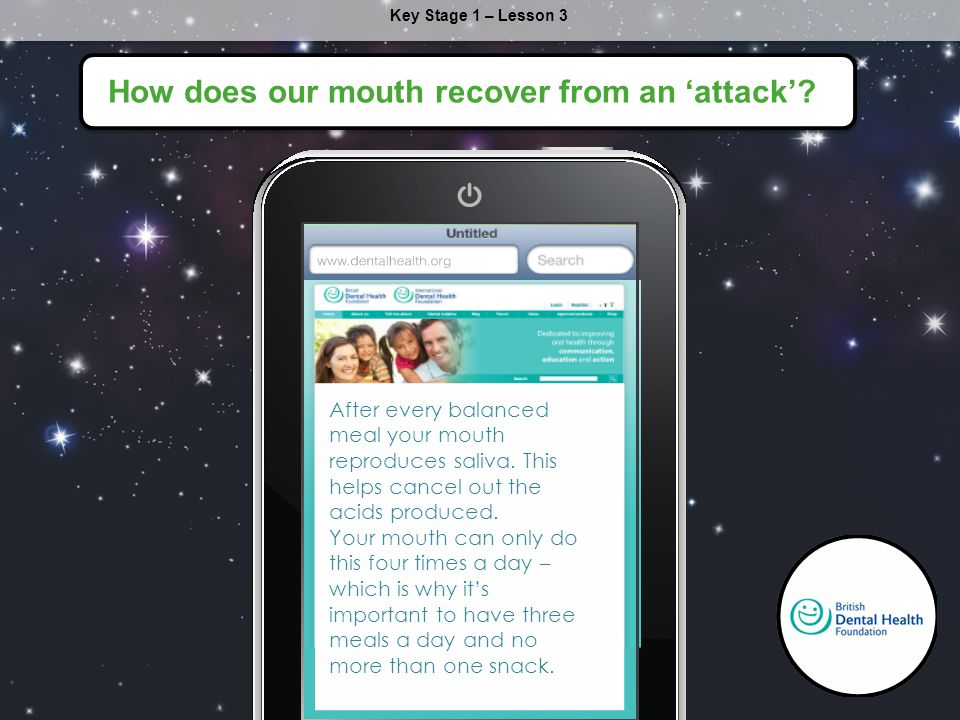 How does our mouth recover from an 'attack'