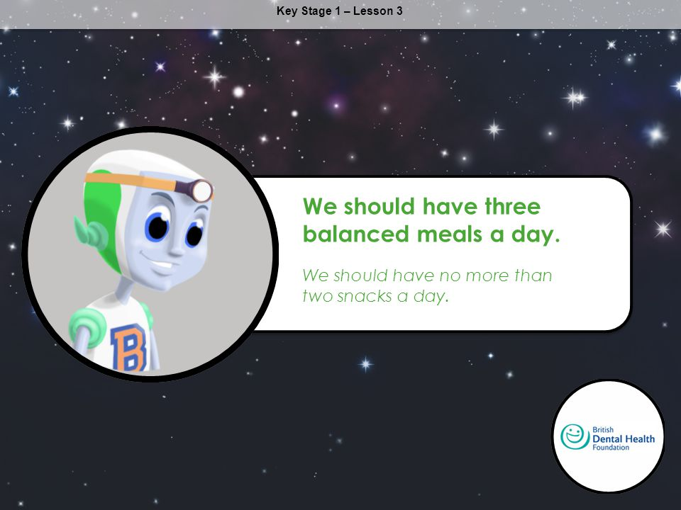 We should have three balanced meals a day.