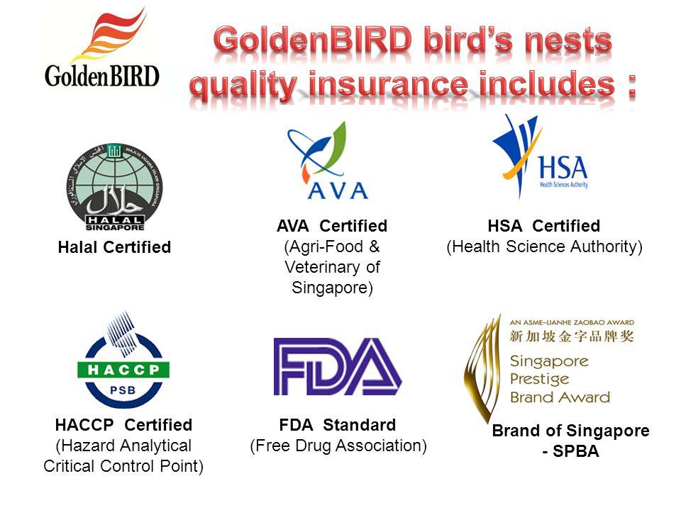 GoldenBIRD bird's nests quality insurance includes :