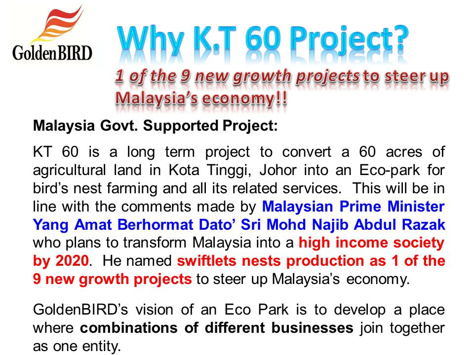 Why K.T 60 Project 1 of the 9 new growth projects to steer up Malaysia's economy!! Malaysia Govt. Supported Project:
