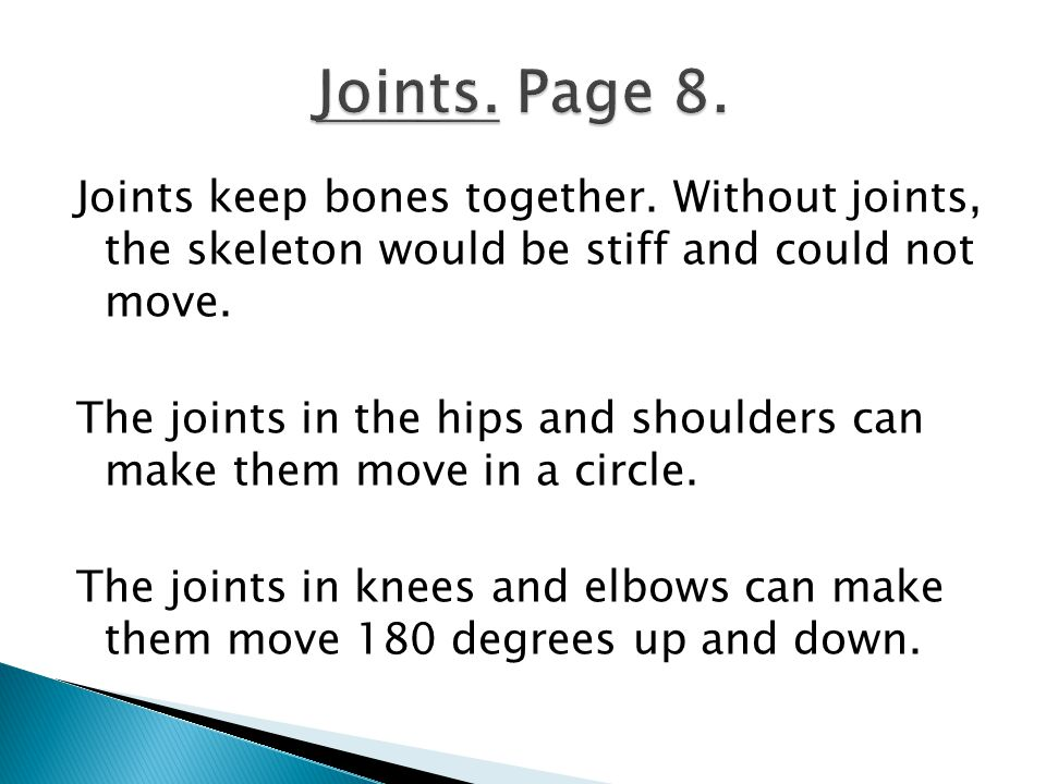 Joints. Page 8.