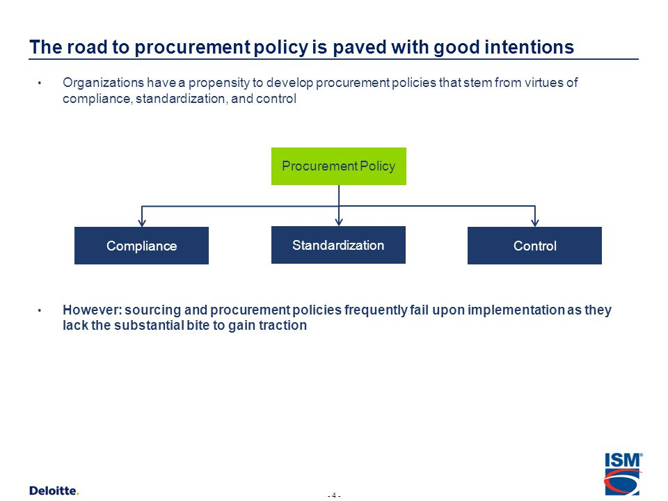 Procurement policy actions speak louder than words