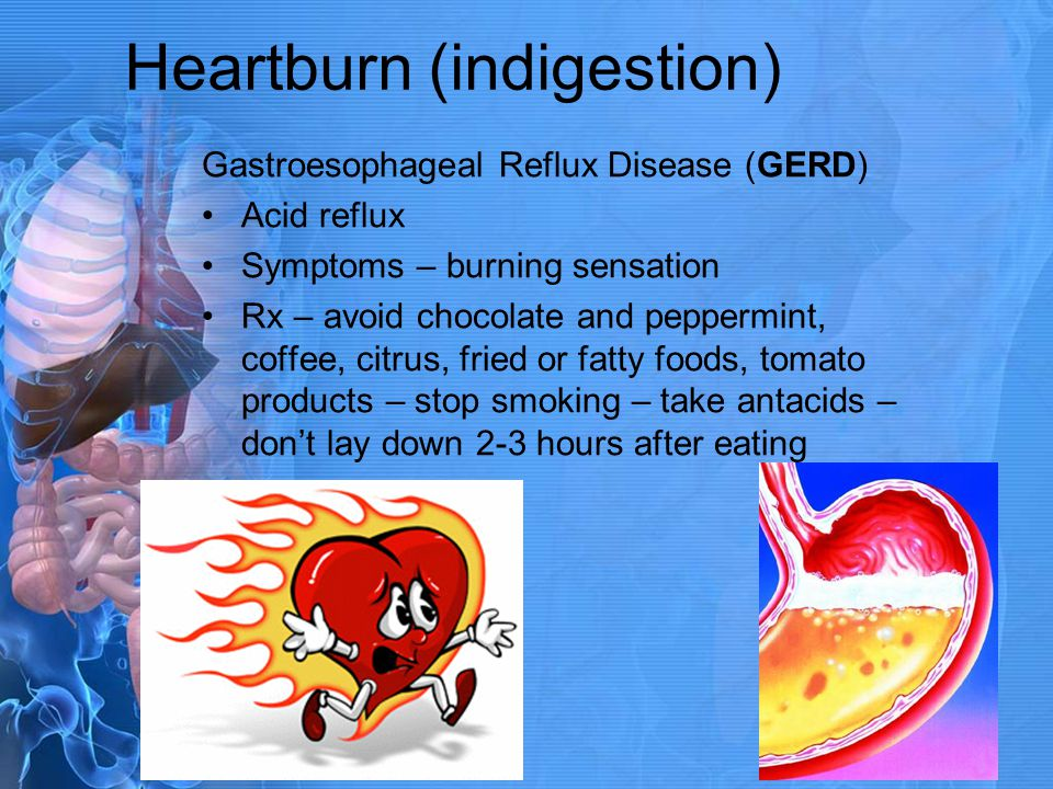 Heartburn (indigestion)