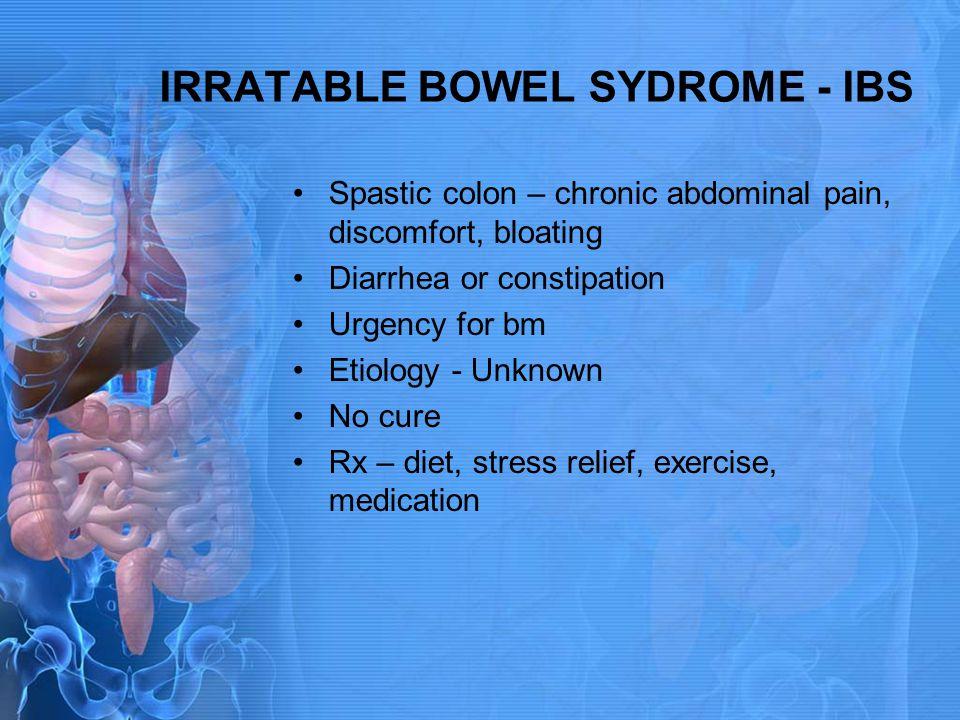 IRRATABLE BOWEL SYDROME - IBS