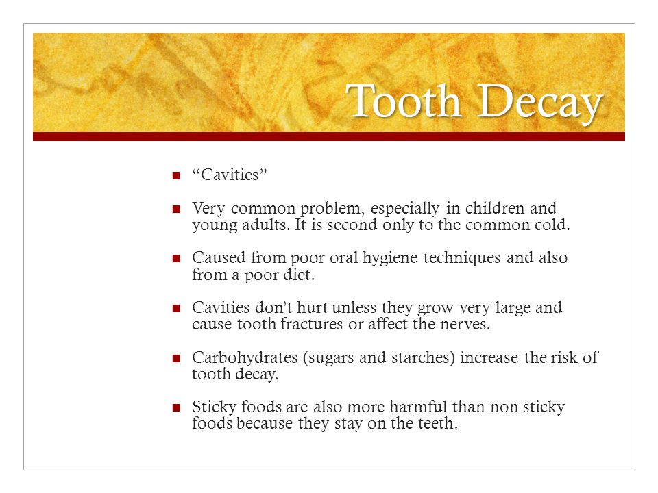 Tooth Decay Cavities