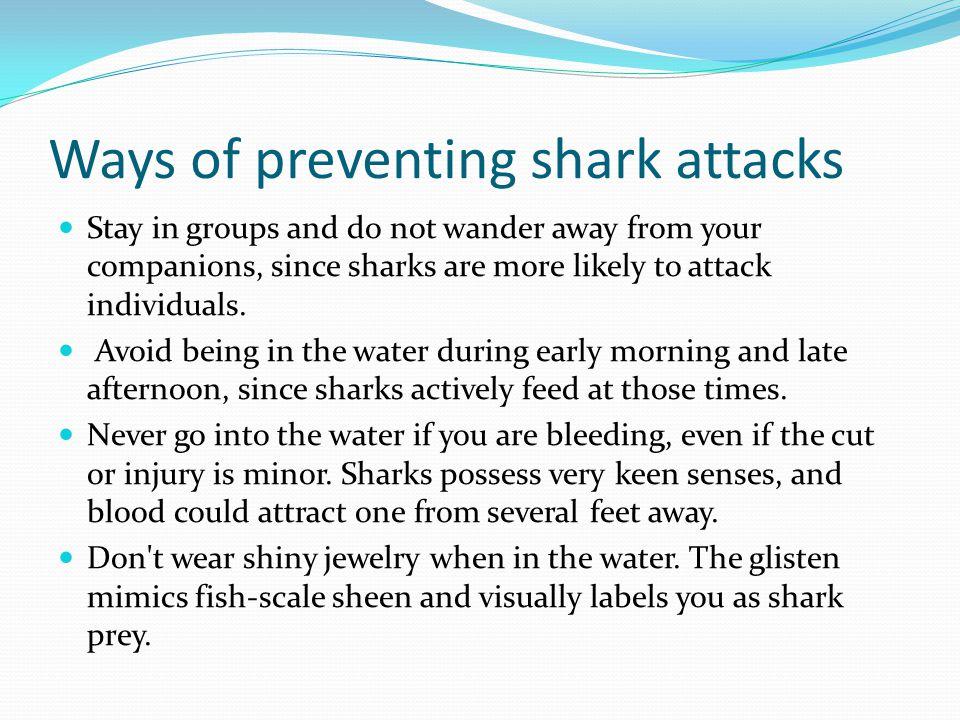 Ways of preventing shark attacks