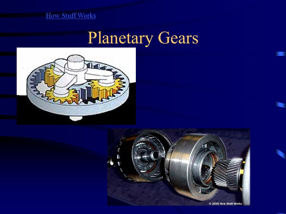 How Stuff Works Planetary Gears.