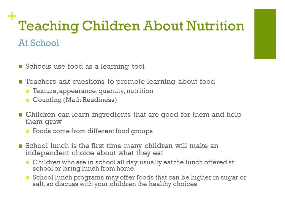 Teaching Children About Nutrition