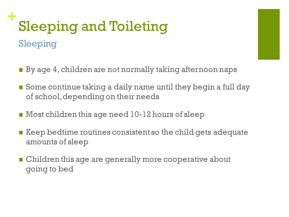 Sleeping and Toileting
