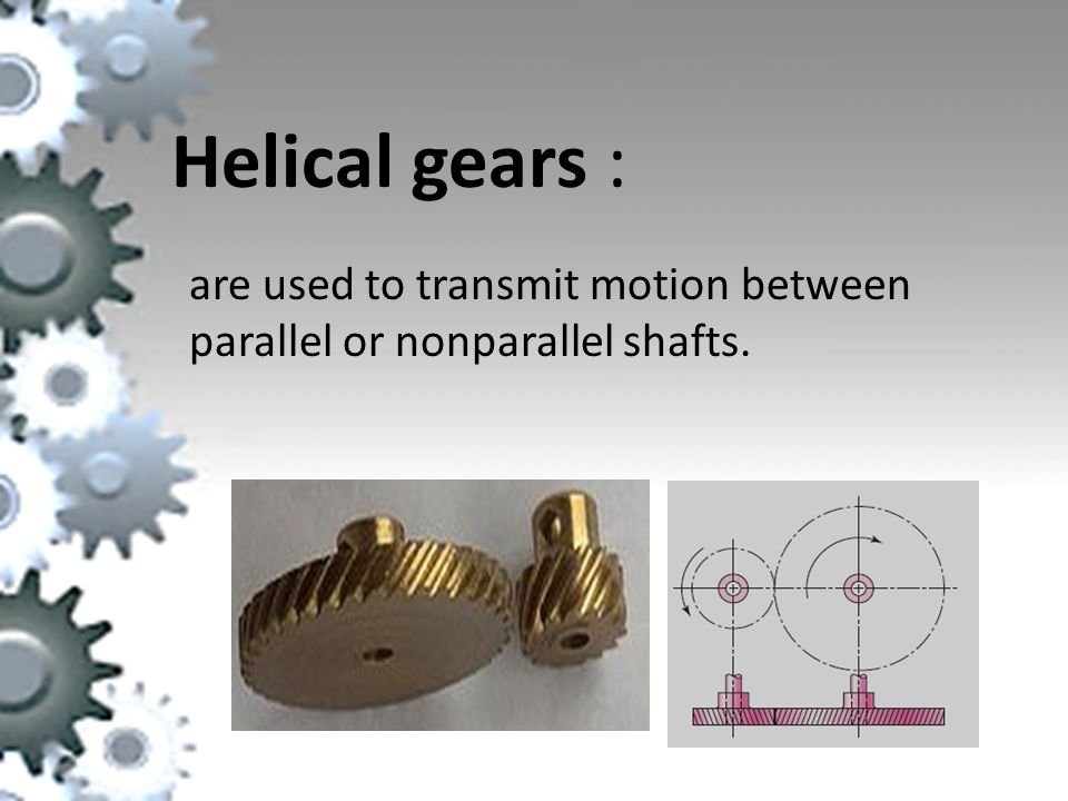 are used to transmit motion between parallel or nonparallel shafts.