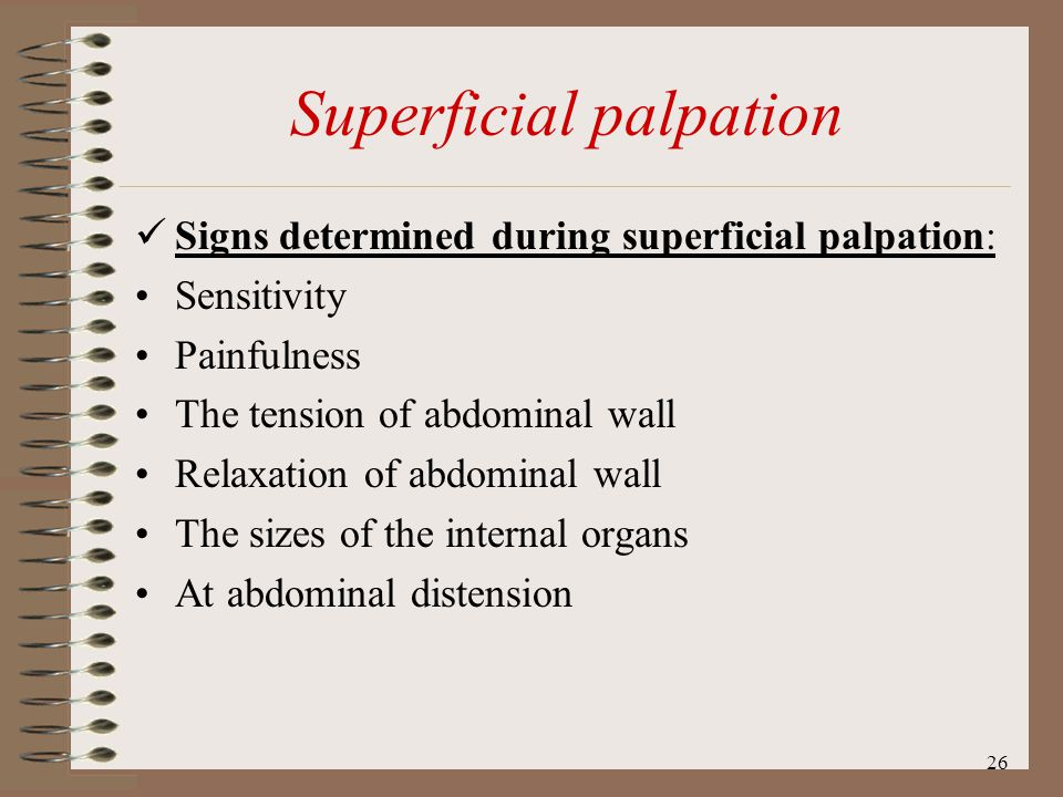Superficial palpation