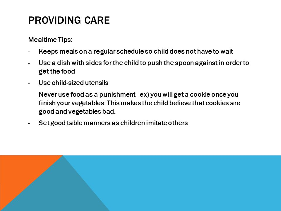 Providing Care Mealtime Tips: