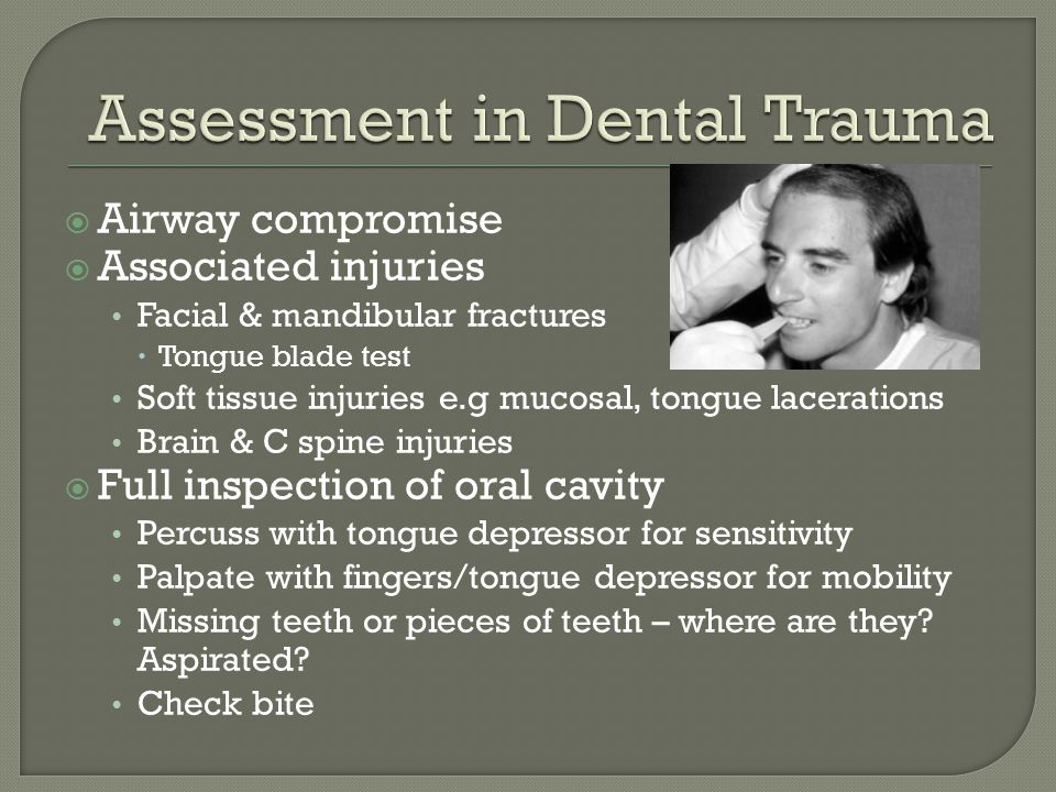 Assessment in Dental Trauma