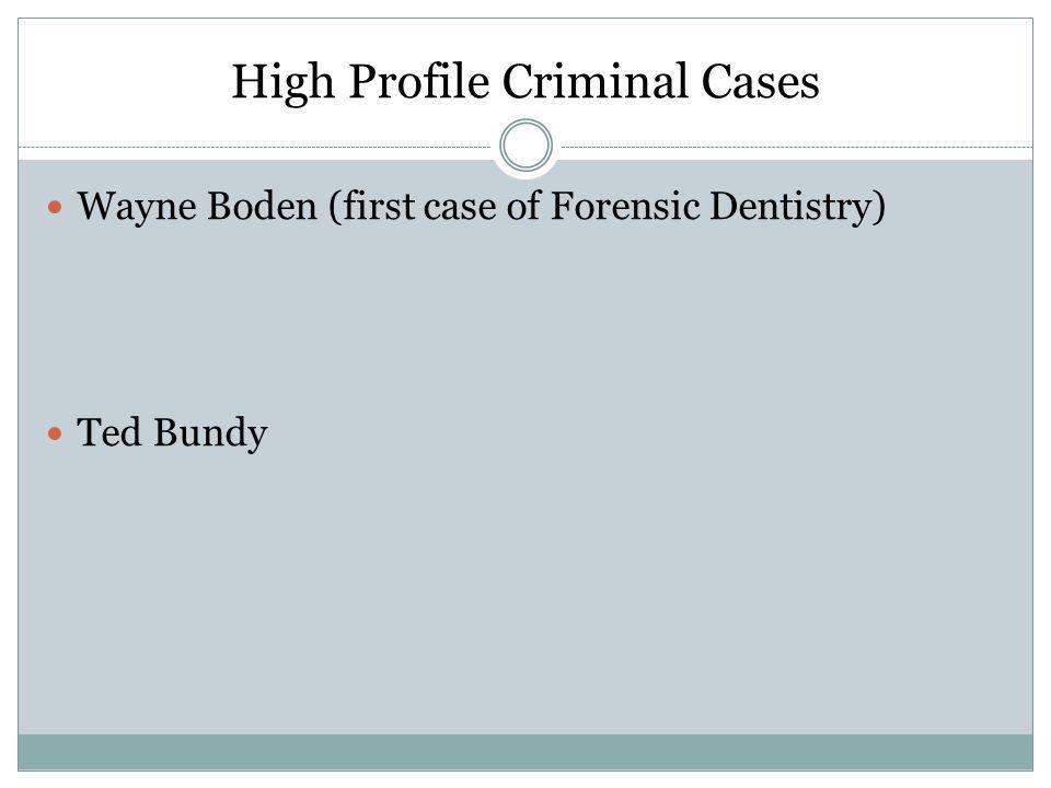 High Profile Criminal Cases