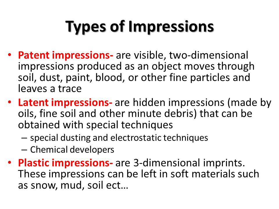 Types of Impressions