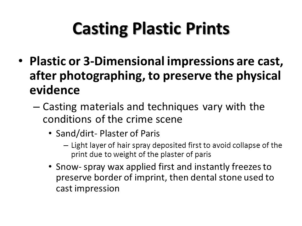 Casting Plastic Prints